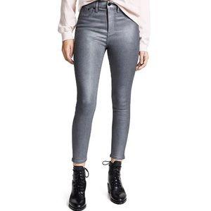 Rag & Bone High Rise Ankle Skinny Gunmetal Jeans